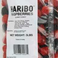 Haribo Gummi Candy, Raspberries, 5-Pound Bag