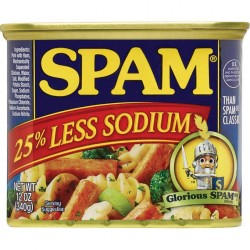 Hormel Spam, 25% Less Sodium, 12 oz, 8 EA(1BOX)